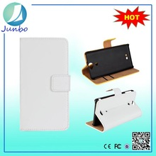Fashionable stylish flip cover leather wallet case for sony xperia s lt26i