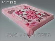 Soft double layer raschel blanket in plastic pvc bag