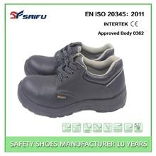SF718 Black anti smash china buffalo print leather safety shoe