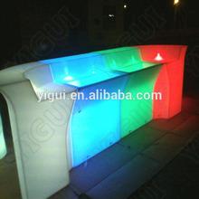 Aluminum folding portable led light bar counter table with wheels/Night Club /Outdoor Moma LED Medium Bar Table