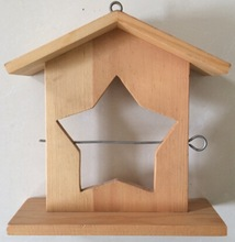 wooden bird feeder different carved shape can be customized