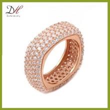Daihe RN2222 rose gold ring,women wedding ring,micro pave ring