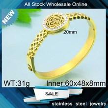 stylish rhinestone bangles stainless steel gold bangle jewellery