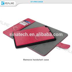 hot sale for ipad mini 3 detachable leather case, for ipad mini 3 thin leather book case