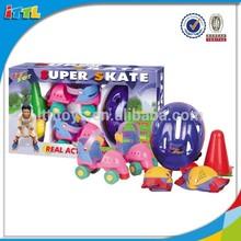 Juguetes deportivos zapatos de patinaje para los niños zapatos del patín de plástico niños Skate zapatos