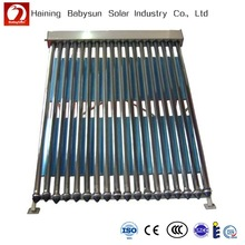 China low price pressure evacuated tube solar collector, solar water heater with reflector
