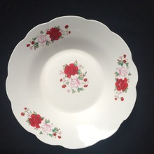 daily used porcelain salad bowl,ceramic soup plate