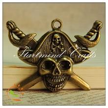 pirate antique bronze,metal pendant embellishement