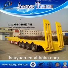 Experienced China factory heavy duty 40ft 4 axle lowboy semi trailer 60 tons lowboy trailer 100 ton