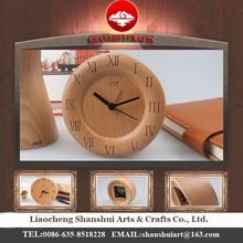 Shanshui DRZ008 Manufacturer's modern desktop clock wholesale table with wood material