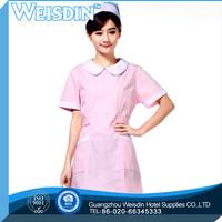 Promotional fashion design spandex/polyester 3/1 twill white cotton nurse uniform fabric