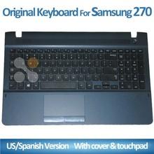 New original keyboard for samsung e5e e5v e5v e5e 275 275 300 300 270 270 e5v e5e US, black belt C cover laptop keyboard