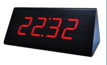 New home decoration wooden led digital alarm table clock