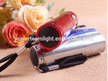 good item for retail or promotion 9led UV flashlight