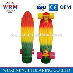 Professional fish cruiser skateboard tricolor 22'' penny skateboard