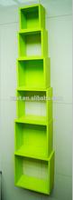 MDF paint wood rack display wooden shelf with backboard