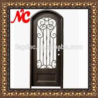 Wrought iron single entry door