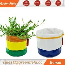 Plant bag,round canvas grow bag,colorful canvas grow bag