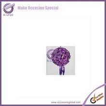 K4303ark pink silk rose decorative flower ball,flower kissing ball