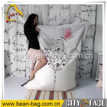 indoor and outdoor bean bag sofa hot sale bean bag chair printing bean bag