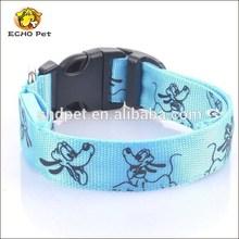 Sky blue lucky animals Pet Dog LED illuminated dog collar
