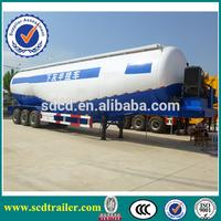 Chengda brand dry bulk cement powder meterial tanker semi truck trailers with air compressor
