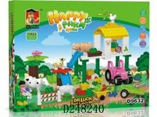 2015 plastic self assembling building blocks happy farm toys series 77pcs D248240