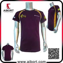 Wholesale sport 100% polyester t-shirt Dye sublimation