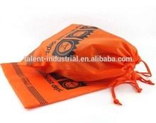 Orange color polyester bag or nylon drawstring backpack