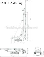 TOP foundation equipment, crawler small/mini CFA rotary drilling rig CFA250