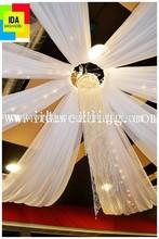 luxury inexpensive chiffon wedding decoration ceiling drape for wedding decoration