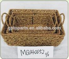 bandeja de pastos marinos cesta de pan de almacenamiento