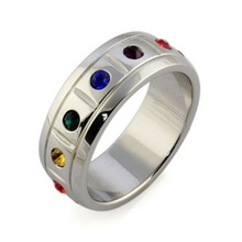 Unprecedentedly Low Price rainbow stainless steel ring wholesale