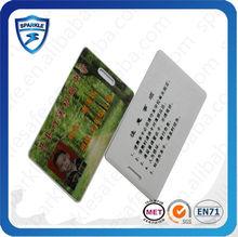professional customized pvc waterproof blank smart card