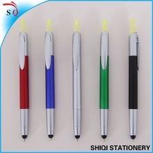 newest style 2 in 1 highlighter pen with touch screen