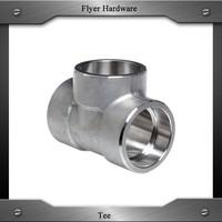 Stainless steel Socket weld pipe tee