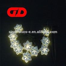 Solar flower shape hot halloween led lights