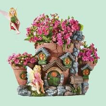 fata casa giardino in resina fioriera per esterni cantiere per arredamento nuovo