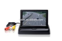 car monitor fold back image digital screen AV switch two road,Rotatable Display Screen 2Video Input,Car Monitors