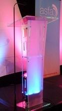 Translucent in Appearance Clear Church Podium Pulpits in Acrylic