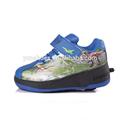 cartoon crianças sapatos de skate rolo dinossauro impressão têm rodas retráteis e botão automático