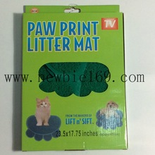 Pet Footprints Shape Waterproof Pet Pad Paw Print Litter Mat