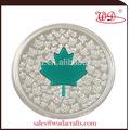 2015 nuevo venir verde de arce hoja - Impression color plata coin