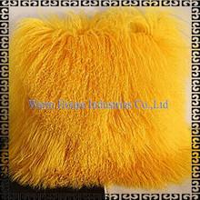 2015 Fashion Wholesale Real Lamb Fur Backrest Floor Cushion