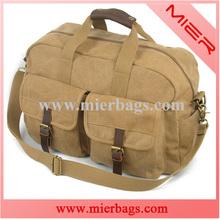 durable natural canvas cotton sports travel duffel bag