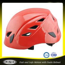 Red mountain bike rock climbing hiking helmet