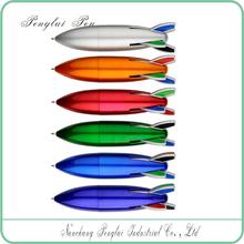 four color ballpoint pen/plastic rocket ball pen