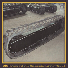 undercarriage parts rubber track for excavator assemble