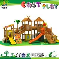 YST140704 wooden design outdoor children amuse timber playsets