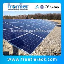 Ground screw glass panel solar mounting brackets